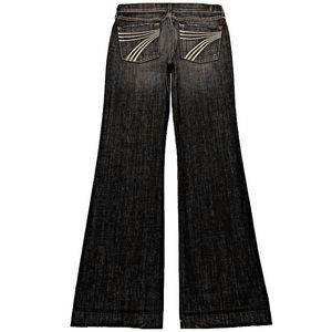 7 For All Mankind Dojo 29X34.5 Long Flare Jeans